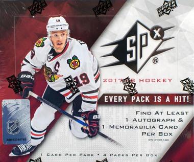 2017/18 Upper Deck SPx Hockey Hobby Box