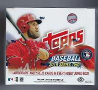 2018 Topps Series 2 Baseball Jumbo HTA Hobby Box + 2 Silver Packs