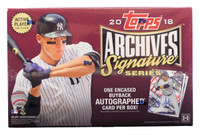 2018 Topps Archives Signature Series Baseball Box