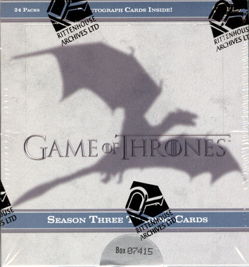 2014 Game of Thrones Season 3 Trading Cards Box