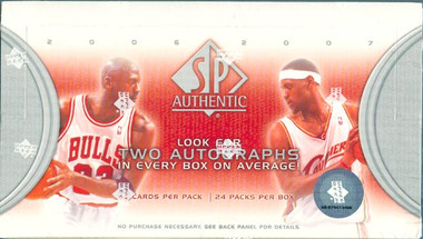 2006/07 Upper Deck SP Authentic Basketball Hobby Box