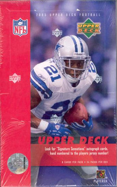2005 Upper Deck Football Hobby Box