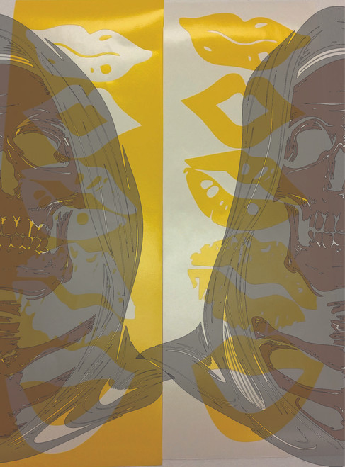 Picture shows both versions of the weeded stencil. Two sheets are sent with each order.