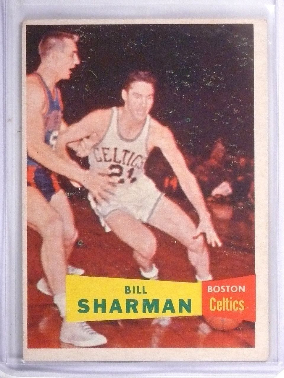 1957 58 Topps Bill Sharman Rookie RC 5 VG EX Sportsnut Cards