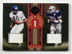 2005 Leaf Limited Round by Round Gale Sayers & Tony Dorsett jersey #D13/75 *3975