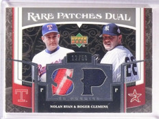 2007 UD Premier Patches Nolan Ryan & Roger Clemens patch #D12/50 *67449