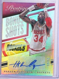 2014-15 Prestige Premium Bonus Shots Hakeem Olajuwon Autograph #D15/15 #8 *63932