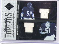 2003 Leaf Limited Threads Mike Singletary & Dick Butkus jersey #D83/100 *39484