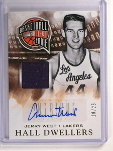 13-14 Panini Intrigue Hall Dwellers Jerry West autograph auto jersey #D19/25 *51