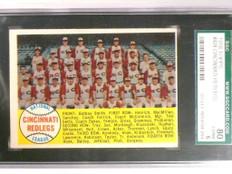 1958 Topps Cincinnati Redlegs Team Card #428 SGC 80 = 6 EX-NM *51669