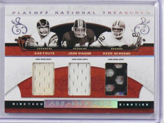 2007 National Treasures Dan Fouts John Riggins & Ozzie Newsome jersey #D23/25 *3
