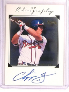 1998 Sp Authentic Chirography Chipper Jones autograph auto #CHIP *67403
