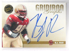 2009 Press Pass SE Gridiron Graphs B.J. Raji auto autograph rc rookie *40941