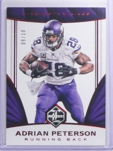 2016 Panini Limited Ruby Spotlight Adrian Peterson #D09/10 #92 *65502