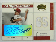 2003 Leaf Certified Fabric of the Game Roy Oswalt autograph jersey #D05/65 *2318