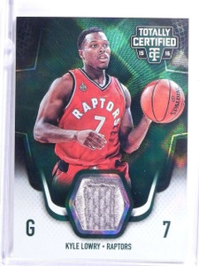 2015-16 Totally Certified Green Kyle Lowry Patch #D4/5 #TCMKL *64204