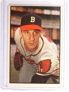 1953 Bowman Color Warren Spahn #99 VG-EX *52131