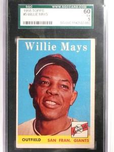 1958 Topps Willie Mays #5 SGC 60 = 5 EX *51656
