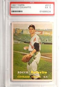 1957 Topps Rocco Colavito #212 PSA 5 EX *52079