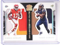 2015 Crown Royale Todd Gurley & Chris Conley jumbo patch rookie #D10/10 *52490