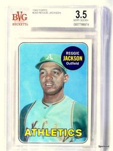 1969 Topps Reggie Jackson rc rookie #260 BVG 3.5 VG+ *43446