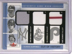 2005 Fleer Classic Clippings Don Mattingly Cal Ripken Mike Scmidt jersey  *55183
