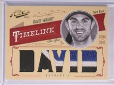 2012 Playoff Prime Cuts Timeline David Wright 3lr patch #D3/3 *55216