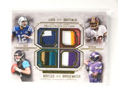 2014 Topps Museum Andrew Luck Griffin Bortles Bridgewater quad patch #D2/25 *521