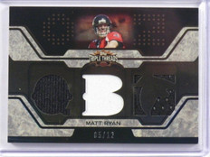 2008 Topps Triple Threads Matt Ryan rc rookie jersey #D05/12 #TTR-1 *39347