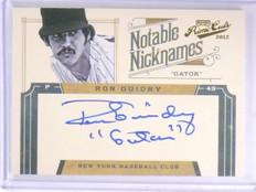 2012 Prime Cuts Notable Nicknames Ron Guidry Autograph auto #D49/49 #28 *64043