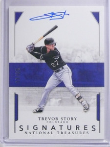2016 Panini National Treasures Trevor Story Rookie Auograph #D08/25 #STS *63980