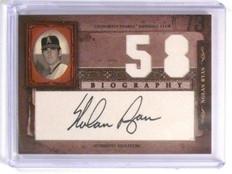 2005 Donruss Playoff Biography Wins Nolan Ryan autograph auto #58 *44648