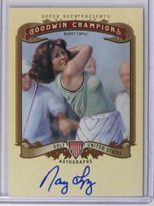2012 Upper Deck Goodwin Champions Nancy Lopez auto autograph #A-NL *37828