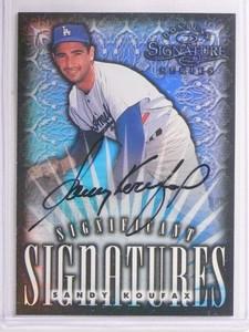 1998 Donruss Signature Significant Refractor Sandy Koufax autograph #d/2000 *550