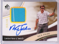 2014 SP Authentic Golf Nick Faldo Shirt Autograph Limited #D019/100 #19 *54547