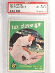 1959 Topps Tex Clevenger #298 PSA 8 NM-MT *49278