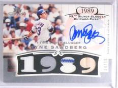 2006 Topps Sterling Ryne Sandberg Quad Bat Jersey Autograph #D04/10 #RSSS4 *6390