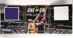 14-15 Panini Preferred 1 on 1 Shaquille O'neal & Mutombo jersey book /25 *50546