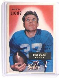 1955 Bowman Doak Walker #1 VG-EX *46751