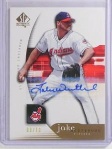 2005 UD SP Authentic Signature Gold Jake Westbrook Autograph #D09/10 #46 *66503