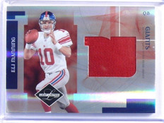 2007 Leaf Limited Eli Manning jumbo prime patch #D02/10 #J-25 *39286