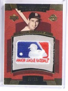 2004 UD Sweet Spot Classic Ted Williams MLB Logo Patch #D05/25 #SSPTW *59258