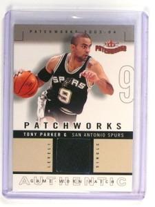 2003-04 Fleer Patchworks Tony Parker Authentic Jersey Patch Level 1 #d103/200 *4