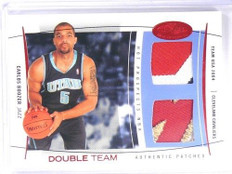 04-05 Fleer Hot Prospects Double Team USA Carlos Boozer dual patch #D08/10 *4059
