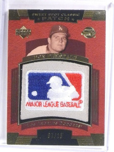2004 UD Sweet Spot Classic Don Drysdale MLB Logo Patch #D07/25 #SSPDR *59272