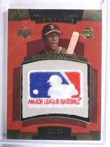 2004 UD Sweet Spot Classic Willie McCovey MLB Logo Patch #D03/25 #SSPWM *59279