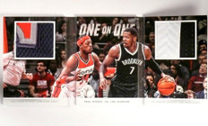 14-15 Panini Preferred 1 on 1 Paul Pierce & Joe Johnson book patch #/25 *50540