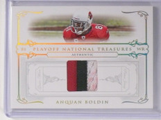 2007 Playoff National Treasures Anquan Boldin 3clr patch #D01/25 #49 *48943
