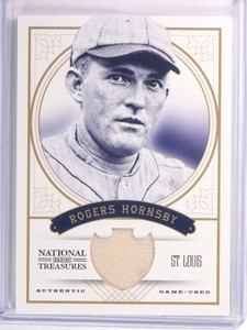 2012 National Treasures Rogers Hornsby jersey #D18/25 #7 *53609