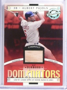2001 Donruss Class Of Diamond Dominators Albert Pujols bat #D55/125 *58551